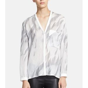 Helmut Lang silk gray top M